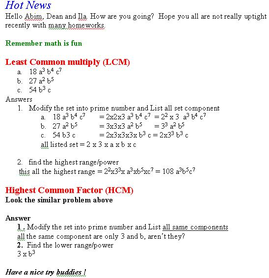 LCM and HCF – Lcm Gcf Worksheet