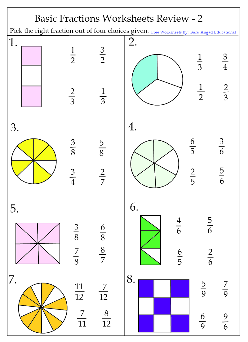 math worksheet : lecture note and worksheet  winningmath : Fractions Quiz Worksheet