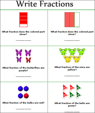 Number Names Worksheets math worksheet fractions : fraction | WinningMath
